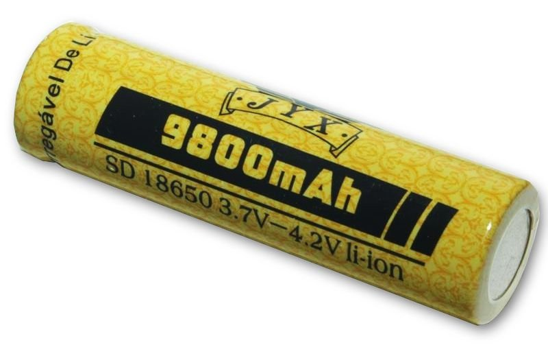 Bateria 18650 9800mAh Recarregável Para Lanterna Tática de LED 3.7V a 4.2V