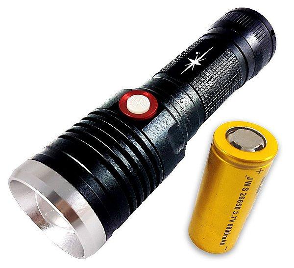 Super Lanterna Tática Absolut 3.240.000 Lumens LED XML T6 L2 Bateria 26650 Potente