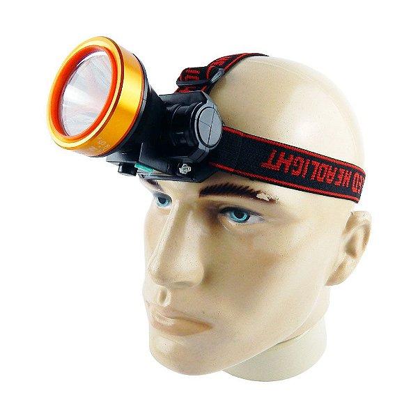 Lanterna de Cabeça Com Bateria Recarregável Compatível com Capacete de EPI