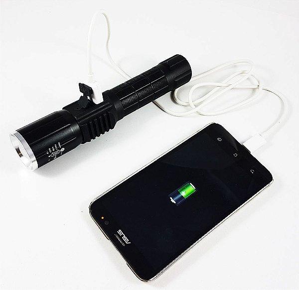 Lanterna Tatica All In 2.208.000 Lumens, Recarrega Celular + Lampião e Sinalizador Giroflex