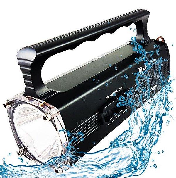 Lanterna de Mergulho Profissional À Prova D'água até 60m 3.120.000 Lumens Bateria Com Duração Até 20hs