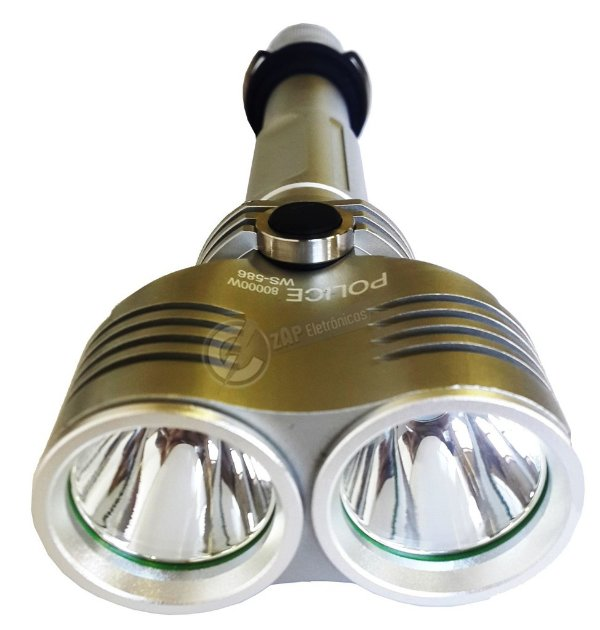 Lanterna Holofote Tatica Monster Police Double Led T6 2.880.000 lumens