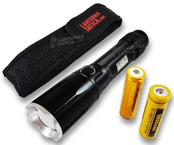 Lanterna Tática Militar X1200 Original 3.580.000 Lumens Com Duas Baterias Recarregáveis + Capa