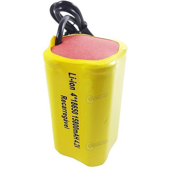 Bateria Profissional Para Para Farol de Bike Bicicleta 15800mAh 4.2V