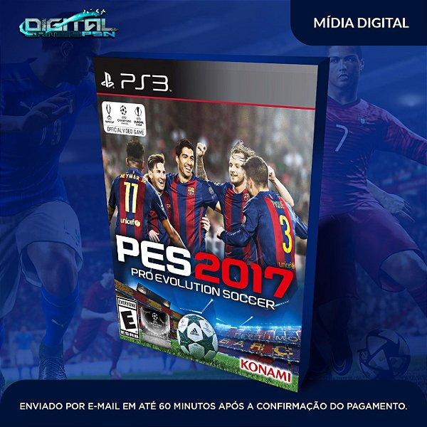 Pro Evolution Soccer 2017 Pes 17 Ps3 - Mídia Digital