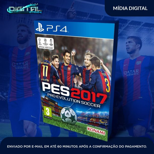 Pro Evolution Soccer 2017 Pes 17 Ps4 - Mídia Digital