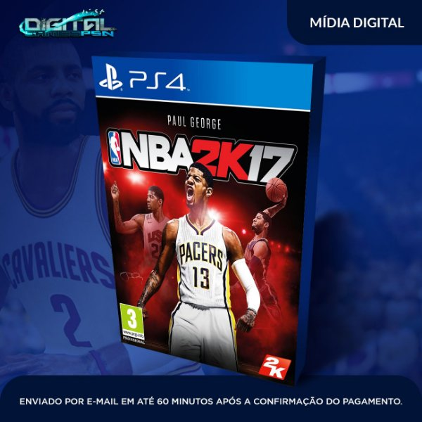 Nba 2k17 Ps4 - Mídia Digital -  Sistema Primário Original 1