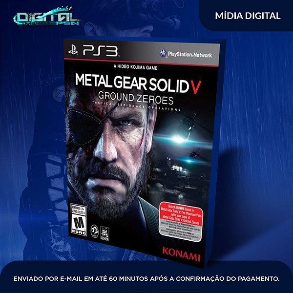 Metal Gear Solid V Ground Zeroes Ps3 Mídia Digital