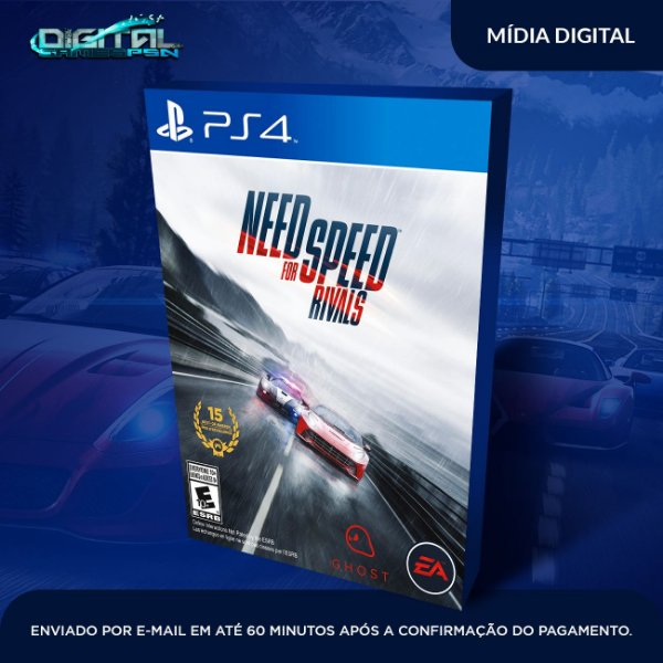Need For Speed Rivals Ps4 Mídia Digital