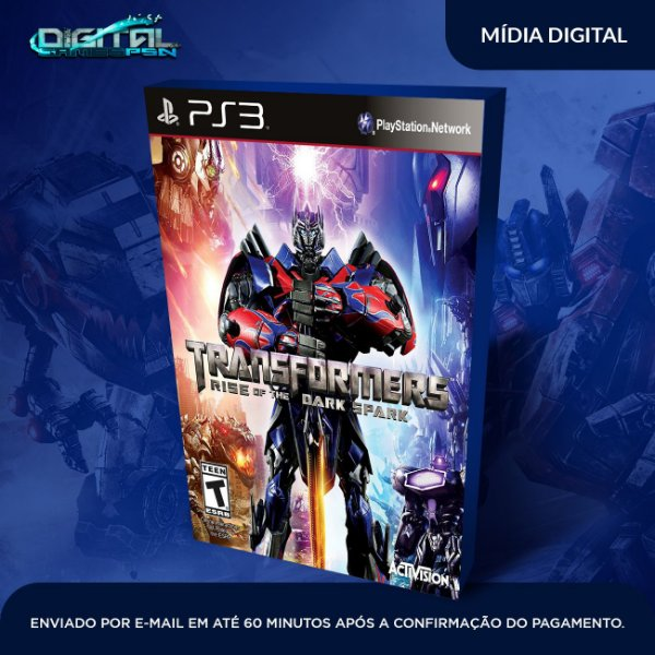 Transformers Rise Of The Dark Spark Ps3 Mídia Digital