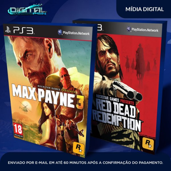 Max Payne Complete Edition 3 + Red Dead Redemption Ps3 Mídia Digital