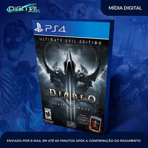 Diablo III: Reaper of Souls - Ultimate Evil Edition Ps4 Mídia Digital