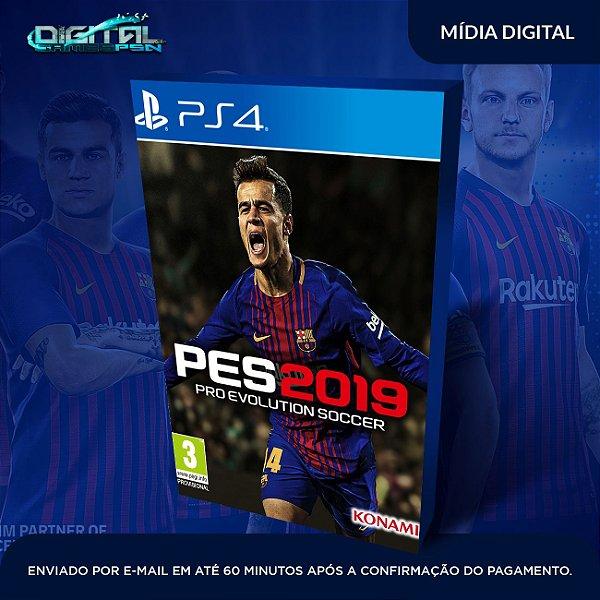 Pes 19 - Pro Evolution Soccer 2019 Pes 2019 Ps4 - Mídia Digital