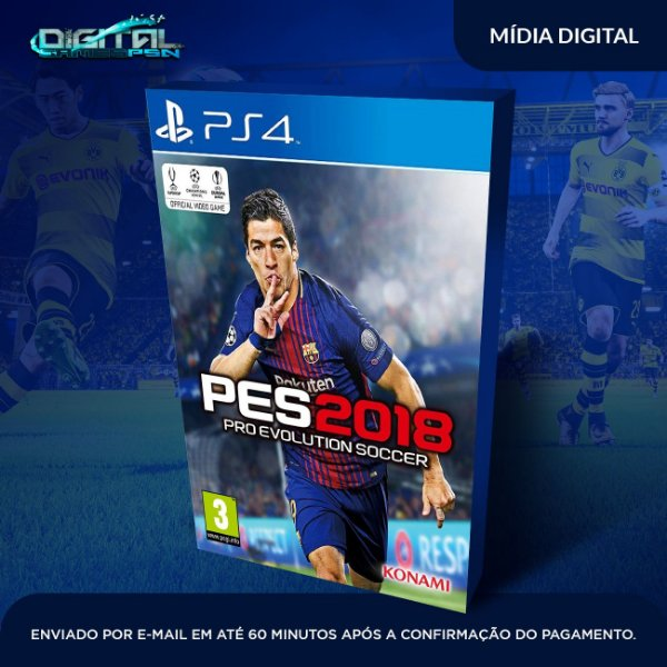 Pro Evolution Soccer 2018 Pes 18 Ps4 - Mídia Digital