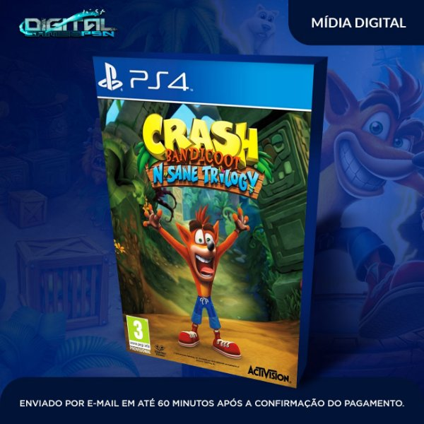 Crash Bandicoot™ N. Sane Trilogy ps4 midia digital