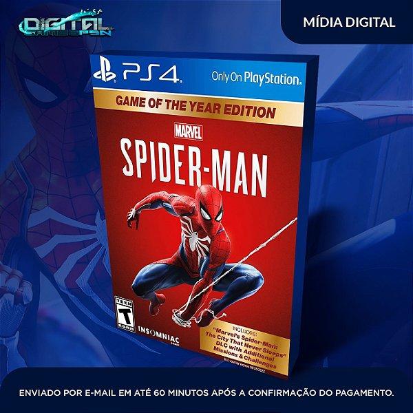 Marvel's Spider-Man: Game of the Year Edition Homem Aranha Ps4 SISTEMA PRIMÁRIO ORIGINAL 1