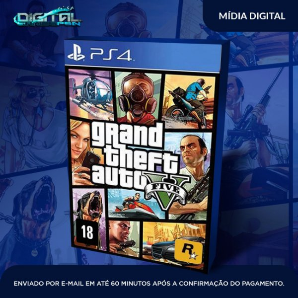 GTA V Grand Theft Auto V Ps4 - Mídia Digital