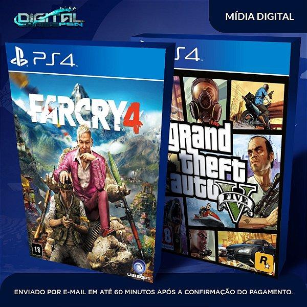 Grand Theft Auto V + Far Cry IV Ps4 Mídia Digital