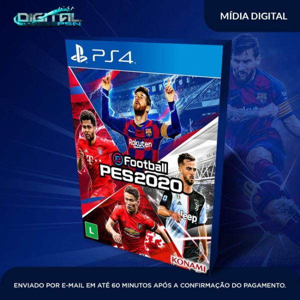 eFootball PES 2020 Standard Edition PES 20 Sistema original 1PS4