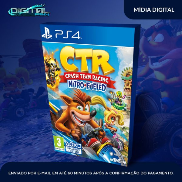 Crash Team Racing Nitro Fueled PS4 Jogo Digital