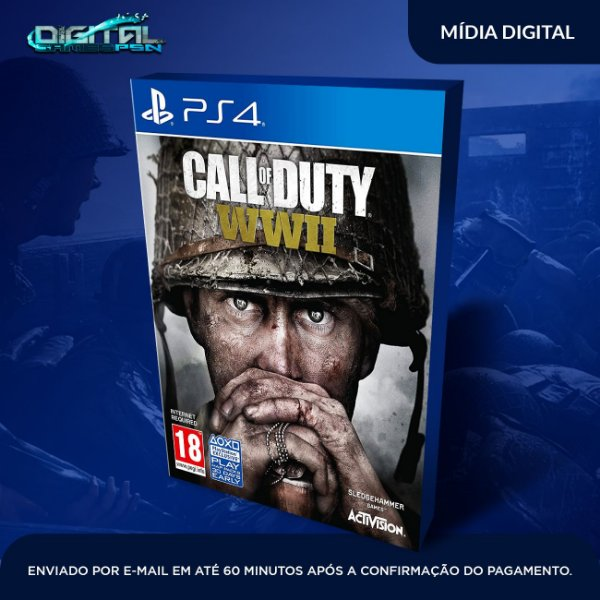Call of Duty WWII PS4 Game Digital USA Inglês