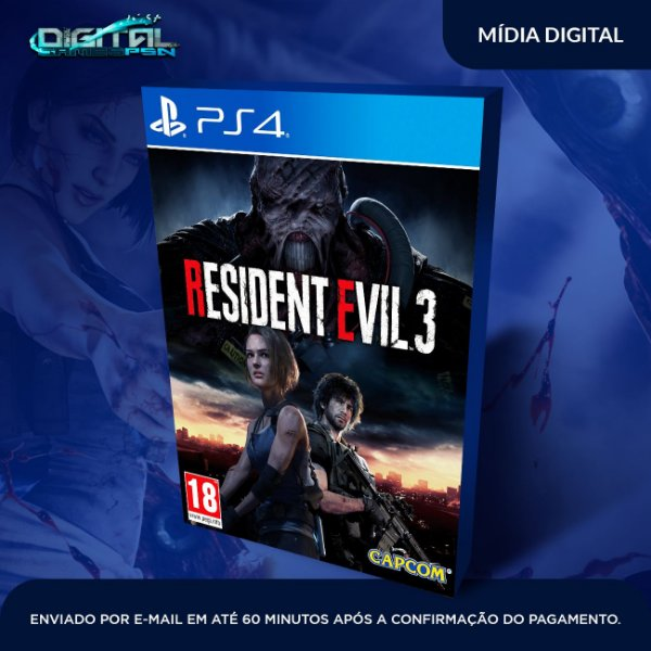 Resident Evil 3 Game Digital Ps4