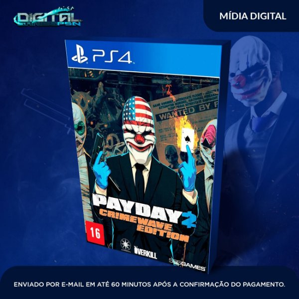PayDay 2: Crimewave Edition Ps4 Mídia Digital - Sistema Original 1 - Primária  -