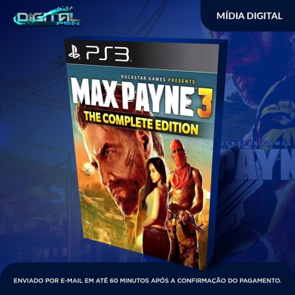 Max Payne 3 The Complete Edition PS3 Game Digital
