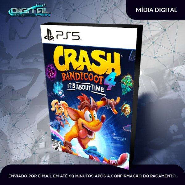 Crash Bandicoot 4 It's About Time Ps5 Mídia Digital