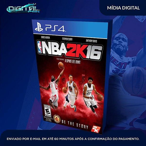NBA 2K16 Mídia Digital Ps4