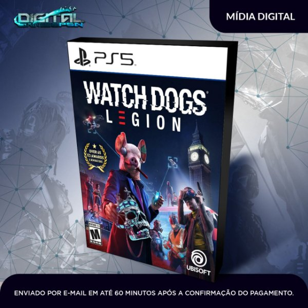 Watch Dogs Legion PS5 Mídia Digital