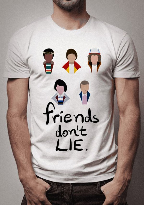 Camiseta Friends Don't Lie Stranger Things
