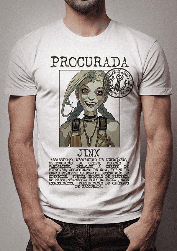 Camiseta Jinx Procurada League of Legends