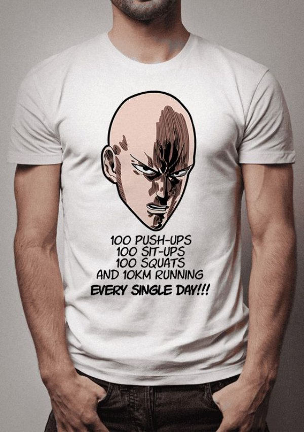 Camiseta Saitama Training One Punch Man