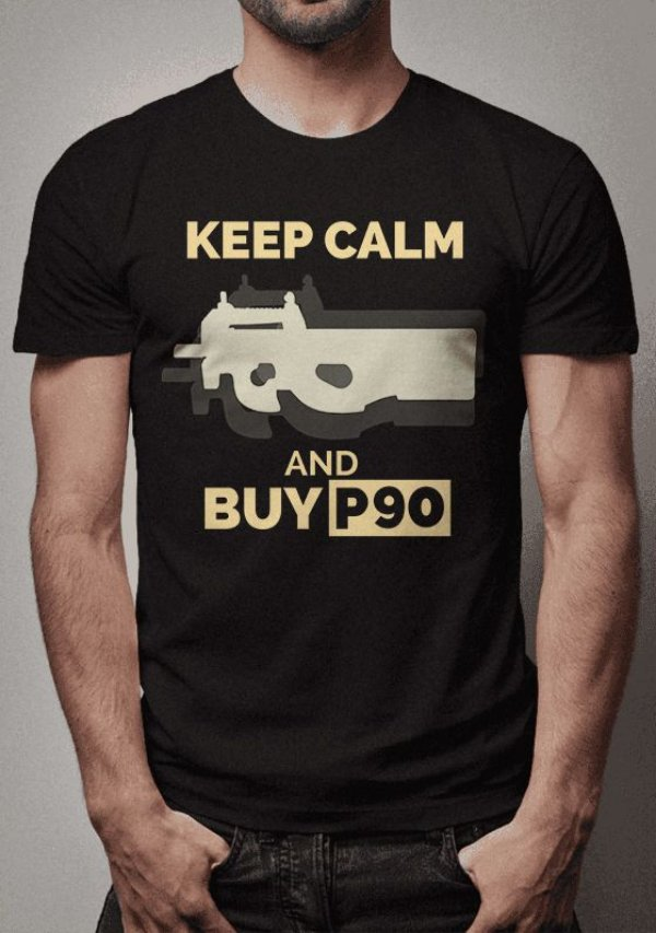 Camiseta Buy P90 Counter Strike