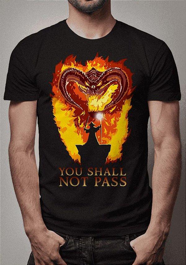 Camiseta You Shall Not Pass Senhor dos Aneis