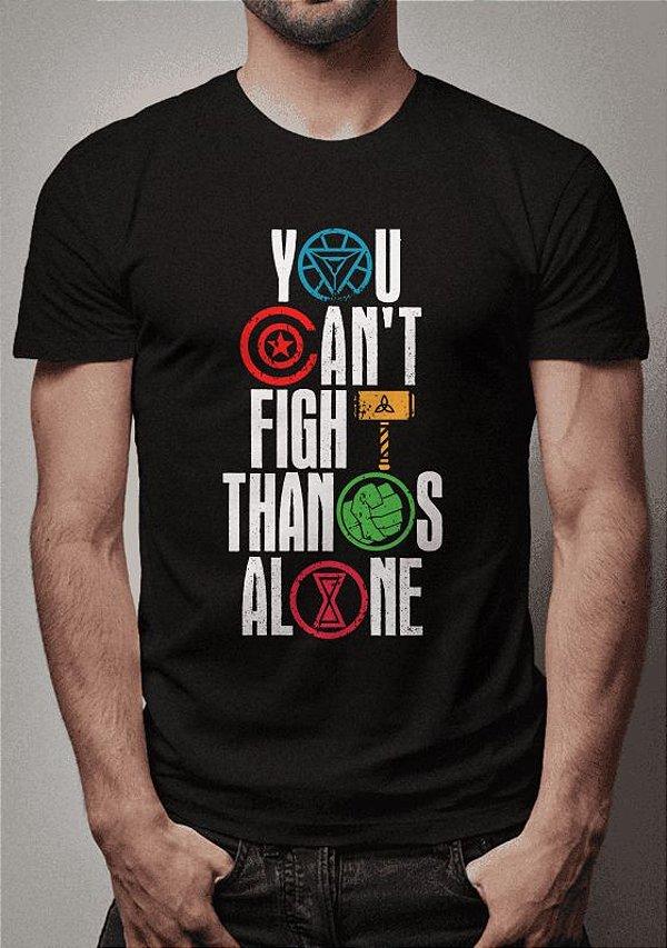 Camiseta Vingadores x Thanos Guerra Infinita