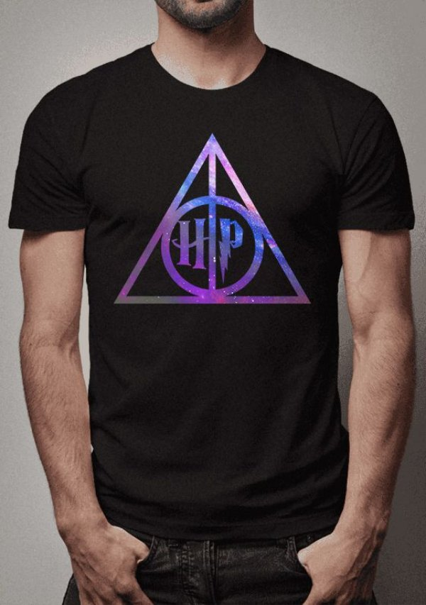 Camiseta Relíquias da Morte Harry Potter
