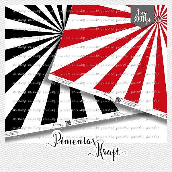 Kit Digital Papéis - Linha Starburst - Cor Sólida by Elisabeth Pimenta