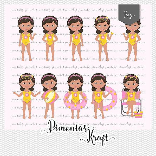 Kit Digital Clipart - Pool Party - Amelie by Elisabeth Pimenta