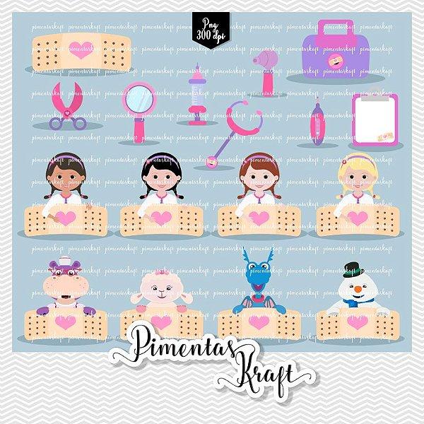 Kit Digital Clipart Doutora Brinquedos