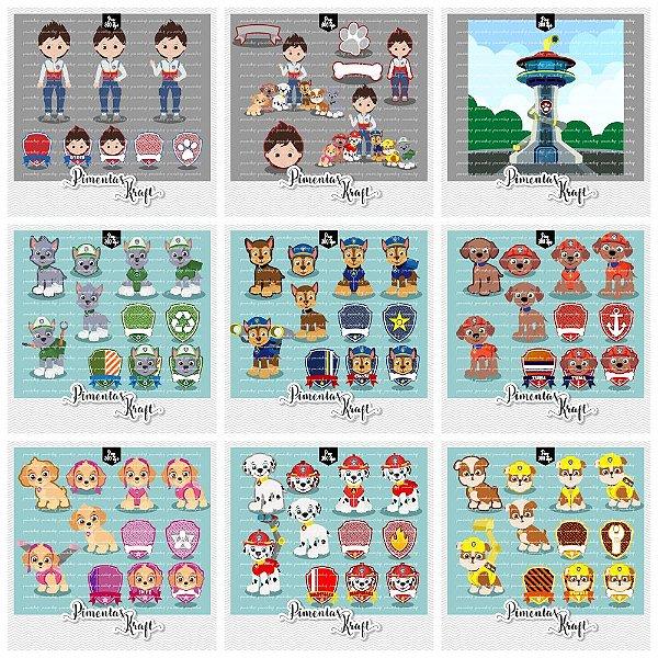 Kit Digital Clipart Patrulha de Patinhas Menino Completo
