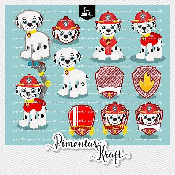 Kit Digital Clipart - Patrulha de Patinhas - MARSHALL