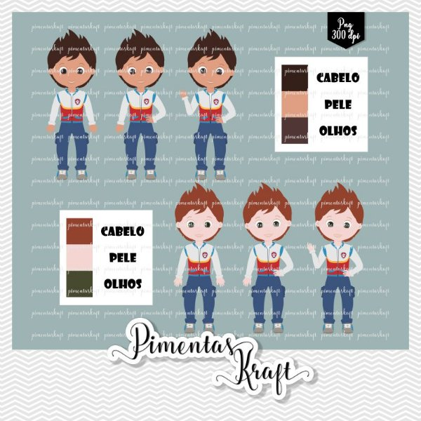 Kit Digital Clipart - Patrulha de Patinhas - Ryder Cores