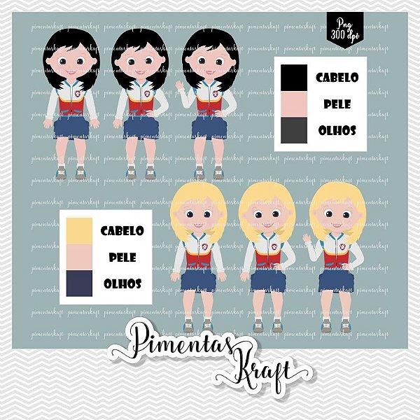 Kit Digital Clipart - Patrulha de Patinhas - Ryder Meninas Colors