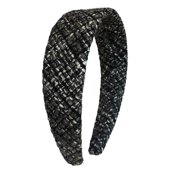 Tiara Flat  Tweed Cinza com Preto