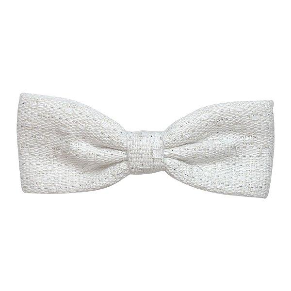 Fivela de Laço P Tweed Branco Textura Dourada