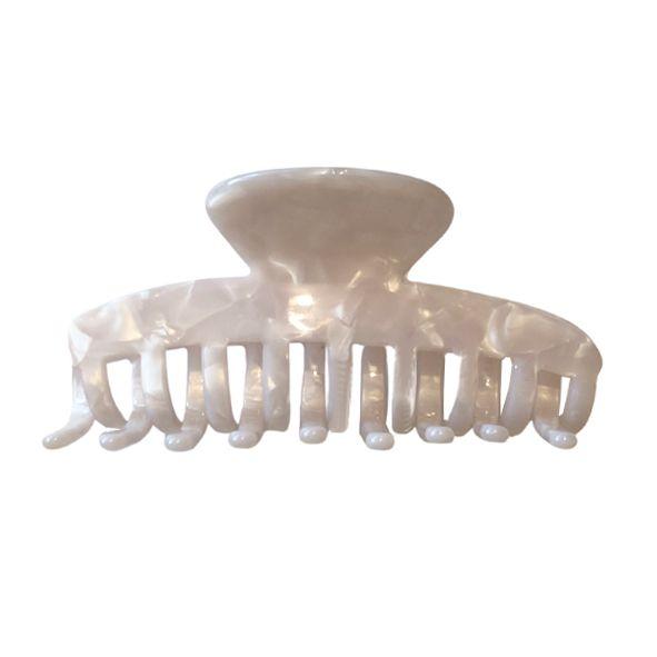 Presilha de Cabelo Curvas Branco Perolado