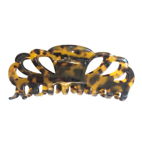 Presilha de Cabelo Curvas Marrom Tartaruga