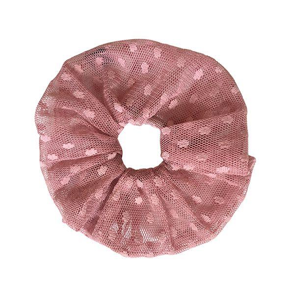 Elástico - Scrunchie Tule Rústico Rose Queimado